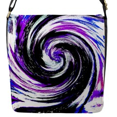 Canvas Acrylic Digital Design Flap Messenger Bag (s) by Simbadda