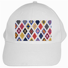 Plaid Triangle Sign Color Rainbow White Cap by Alisyart