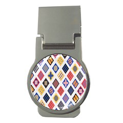 Plaid Triangle Sign Color Rainbow Money Clips (round)  by Alisyart