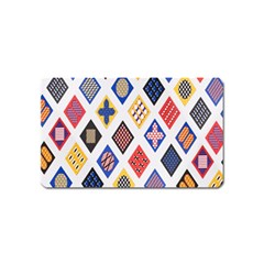Plaid Triangle Sign Color Rainbow Magnet (name Card) by Alisyart