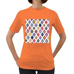 Plaid Triangle Sign Color Rainbow Women s Dark T Shirt by Alisyart