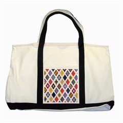 Plaid Triangle Sign Color Rainbow Two Tone Tote Bag by Alisyart