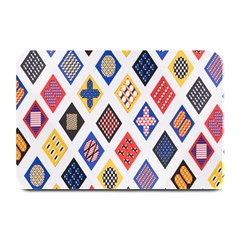 Plaid Triangle Sign Color Rainbow Plate Mats