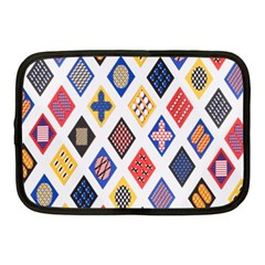 Plaid Triangle Sign Color Rainbow Netbook Case (medium)  by Alisyart