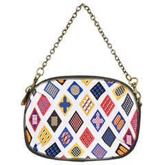 Plaid Triangle Sign Color Rainbow Chain Purses (two Sides)