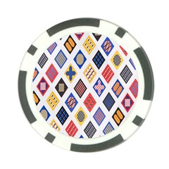 Plaid Triangle Sign Color Rainbow Poker Chip Card Guard (10 Pack) by Alisyart