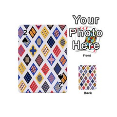Plaid Triangle Sign Color Rainbow Playing Cards 54 (mini)  by Alisyart