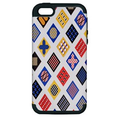 Plaid Triangle Sign Color Rainbow Apple Iphone 5 Hardshell Case (pc+silicone) by Alisyart