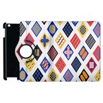 Plaid Triangle Sign Color Rainbow Apple iPad 2 Flip 360 Case Front