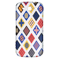 Plaid Triangle Sign Color Rainbow Samsung Galaxy S3 S Iii Classic Hardshell Back Case by Alisyart