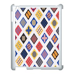 Plaid Triangle Sign Color Rainbow Apple Ipad 3/4 Case (white)