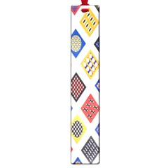 Plaid Triangle Sign Color Rainbow Large Book Marks by Alisyart