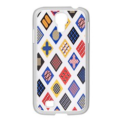 Plaid Triangle Sign Color Rainbow Samsung Galaxy S4 I9500/ I9505 Case (white) by Alisyart