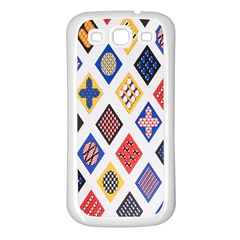Plaid Triangle Sign Color Rainbow Samsung Galaxy S3 Back Case (white) by Alisyart