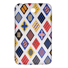 Plaid Triangle Sign Color Rainbow Samsung Galaxy Tab 3 (7 ) P3200 Hardshell Case  by Alisyart