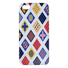 Plaid Triangle Sign Color Rainbow Iphone 5s/ Se Premium Hardshell Case