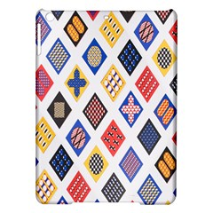 Plaid Triangle Sign Color Rainbow Ipad Air Hardshell Cases by Alisyart