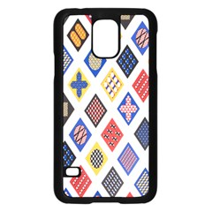 Plaid Triangle Sign Color Rainbow Samsung Galaxy S5 Case (black) by Alisyart