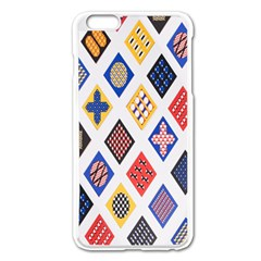 Plaid Triangle Sign Color Rainbow Apple Iphone 6 Plus/6s Plus Enamel White Case by Alisyart