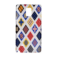 Plaid Triangle Sign Color Rainbow Samsung Galaxy Note 4 Hardshell Case by Alisyart