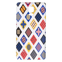 Plaid Triangle Sign Color Rainbow Galaxy Note 4 Back Case