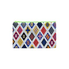 Plaid Triangle Sign Color Rainbow Cosmetic Bag (xs) by Alisyart