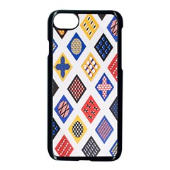 Plaid Triangle Sign Color Rainbow Apple Iphone 7 Seamless Case (black) by Alisyart
