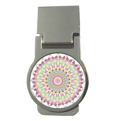Kaleidoscope Star Love Flower Color Rainbow Money Clips (round)  by Alisyart