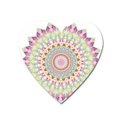 Kaleidoscope Star Love Flower Color Rainbow Heart Magnet by Alisyart