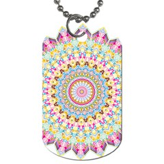 Kaleidoscope Star Love Flower Color Rainbow Dog Tag (one Side) by Alisyart
