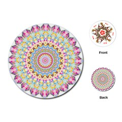 Kaleidoscope Star Love Flower Color Rainbow Playing Cards (round)