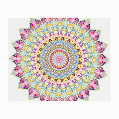 Kaleidoscope Star Love Flower Color Rainbow Small Glasses Cloth (2 Side) by Alisyart