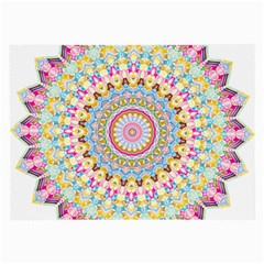 Kaleidoscope Star Love Flower Color Rainbow Large Glasses Cloth