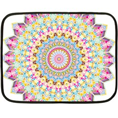Kaleidoscope Star Love Flower Color Rainbow Fleece Blanket (mini) by Alisyart