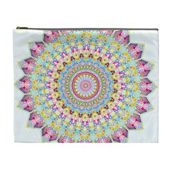 Kaleidoscope Star Love Flower Color Rainbow Cosmetic Bag (xl) by Alisyart