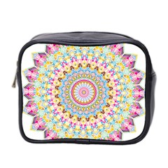 Kaleidoscope Star Love Flower Color Rainbow Mini Toiletries Bag 2-side by Alisyart