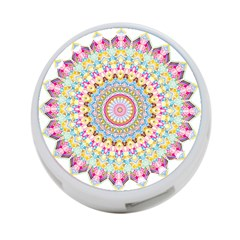 Kaleidoscope Star Love Flower Color Rainbow 4 Port Usb Hub (two Sides)  by Alisyart