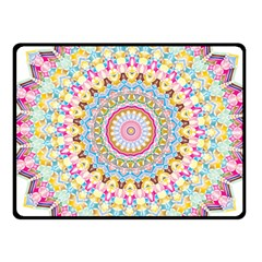 Kaleidoscope Star Love Flower Color Rainbow Fleece Blanket (small) by Alisyart