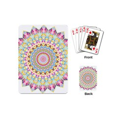 Kaleidoscope Star Love Flower Color Rainbow Playing Cards (mini)  by Alisyart