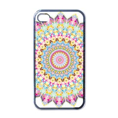 Kaleidoscope Star Love Flower Color Rainbow Apple Iphone 4 Case (black) by Alisyart