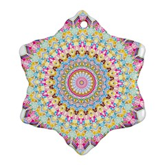 Kaleidoscope Star Love Flower Color Rainbow Snowflake Ornament (two Sides)
