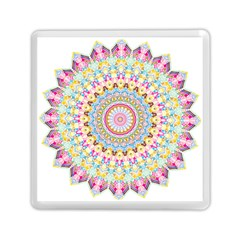 Kaleidoscope Star Love Flower Color Rainbow Memory Card Reader (square)