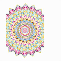 Kaleidoscope Star Love Flower Color Rainbow Small Garden Flag (two Sides) by Alisyart