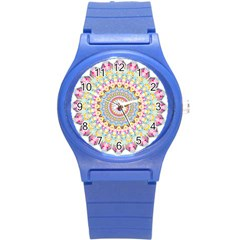 Kaleidoscope Star Love Flower Color Rainbow Round Plastic Sport Watch (s) by Alisyart