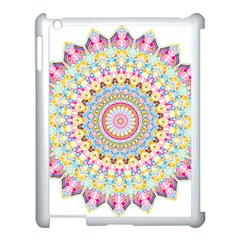 Kaleidoscope Star Love Flower Color Rainbow Apple Ipad 3/4 Case (white)