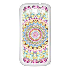 Kaleidoscope Star Love Flower Color Rainbow Samsung Galaxy S3 Back Case (white) by Alisyart