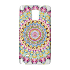 Kaleidoscope Star Love Flower Color Rainbow Samsung Galaxy Note 4 Hardshell Case by Alisyart