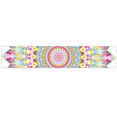 Kaleidoscope Star Love Flower Color Rainbow Flano Scarf (large)