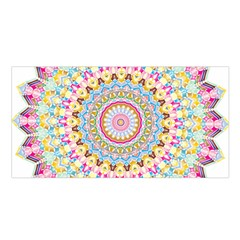 Kaleidoscope Star Love Flower Color Rainbow Satin Shawl by Alisyart