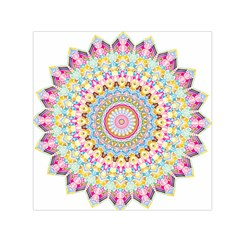 Kaleidoscope Star Love Flower Color Rainbow Small Satin Scarf (square)